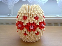 Dekorácie - váza s červenými kvetmi - 750763