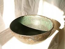 Nádoby - miska zelená, medienková - 752832