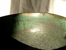 Nádoby - miska zelená, medienková - 752833