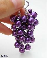 Náušnice - Fialové perličky - 755486