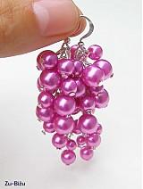 Náušnice - Ružové perličky - 758243