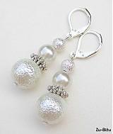 Náušnice - Biele perličky - 759301