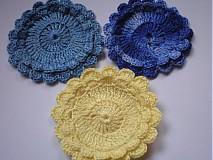 Úžitkový textil - Bavlnené odličovacie tampóny-kvietky - 770343