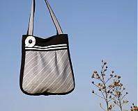 Veľké tašky - Prúžkovaná šedá - 802536