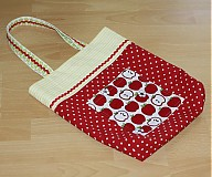 Veľké tašky - Jabĺčkovo - bodkovaná taška pre malé slečny - 803077