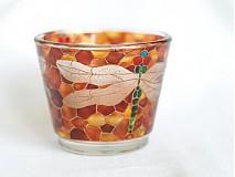 - Svietnik na čajovú sviečku - Dragonfly  - 817700
