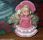 Hračky - Hačkované šatičky pre )Kelly(10cm bábika) - 82270
