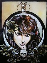 Obrazy - Maľba na skle - Lady Death - 824378