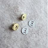 Galantéria - Magnetické zapínanie 14 mm mosadz (zlaté) - 829288