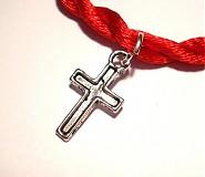 Náramky - kabbalah náramok - krížik 3 - 831161
