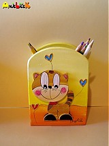 Stojan na ceruzky - mačička