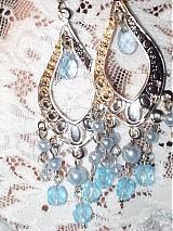 Náušnice - modré z neba - 833874