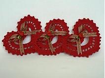 Dekorácie - Červené háčkované srdiečko - 840183