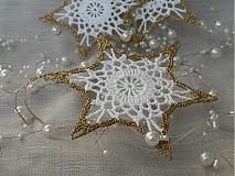 Dekorácie - Hviezdička so zlatým lemom - 842168