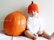 Detské čiapky - Tekvičková - 843103