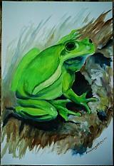 Obrazy - Zvieratá - akryl na výkrese A3 (rôzne na výber) - 849022