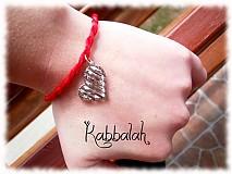 Náramky - kabbalah náramok srdiečko - 872407