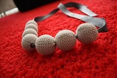 Iné doplnky - Strieborno šedý pletený náhrdelník - 875100