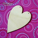 Materiál ručne robený - Srdce predloha s 2 dierkami - 876174