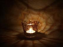Svietidlá a sviečky - Svietnik na čajovú sviečku - Spider Web (Brown)) - 884074