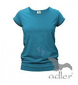Tehotenské oblečenie - Tehotenské tričko s trblietavými mini nožičkami - 889599