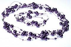 Sady šperkov - Fialové perličky - 893196