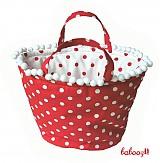 Iné tašky - Taška POLKA červená - 89485