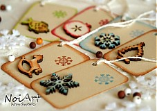 Papiernictvo - Vianočné menovky mix veľký - 914914