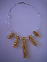 Náhrdelníky - Zlatý náhrdelník - 917723