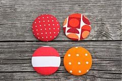 Odznaky/Brošne - Retro oranžový brošňový setík - 924707