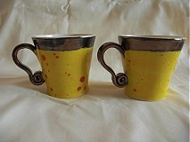 Nádoby - Žlté dvojičky na kavičky - 925968