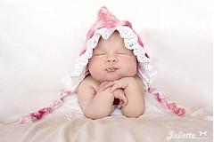 Detské čiapky - Sweet pink... - 927463