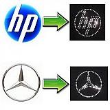 Galantéria - Logo Vašej firmy z hot-fix krištáľov  - 932333