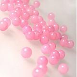 Minerály - Jadeit korálka / 6mm / balenie 10ks (Ružový sneh) - 939148