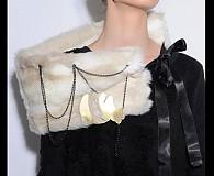 Šály - FlexiFolk šál so šperkom zn.lubi_hany (W)  - 941779