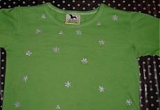 Vianoce - Tričko s trblietavými vločkami pre deti - 949039