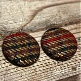 Materiál ručne robený - VÝPREDAJ!!! Buttony tvídové 38 mm - 957263