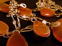 Sady šperkov - ohnivý achátový set - 961928