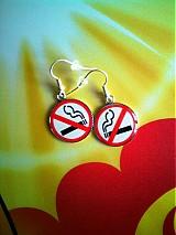 Náušnice - No smoking please! - 96396