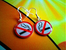 Náušnice - No smoking please! - 96397
