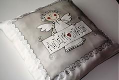 Úžitkový textil - hodvábna obliečka s anjelikom - 970480