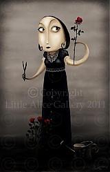 Grafika - Ilustrácia Slečna a ruže - 971039