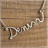 Náhrdelníky - Náhrdelník s menom z postriebreného drôtu: 6-8 písmen - 973736