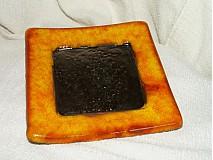 Svietidlá a sviečky - svietnik oranžový - 992561