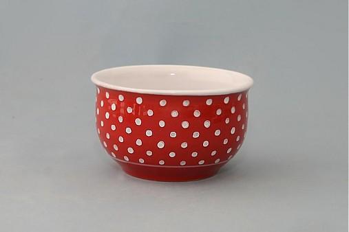 Miska na müsli, polévku puntík 12 červená