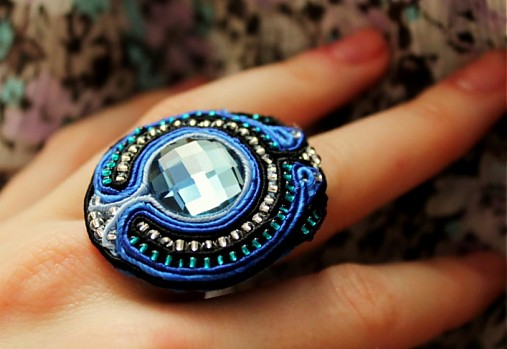 90b6051e7 Modrý SKLADOM / bazu - SAShE.sk - Handmade Prstene