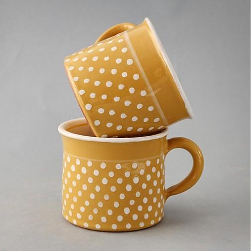 Kafáč puntík 8 žlutý cca 0,3 l