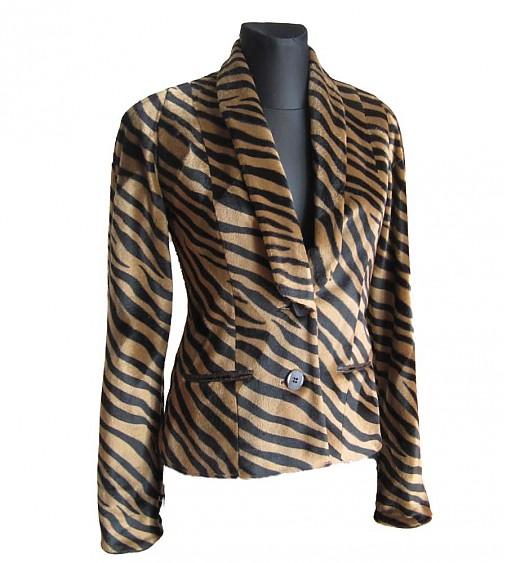 Sako s tigrým vzorom