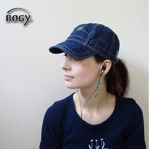 unisex riflová kšiltovka, džínová čepice 821/58