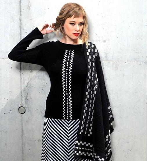 žebrový pulover VALI